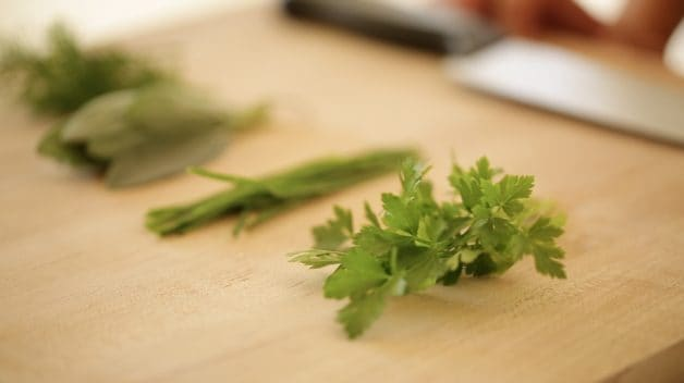 fresh herbs for a Savory Monkey Bread From Scratch