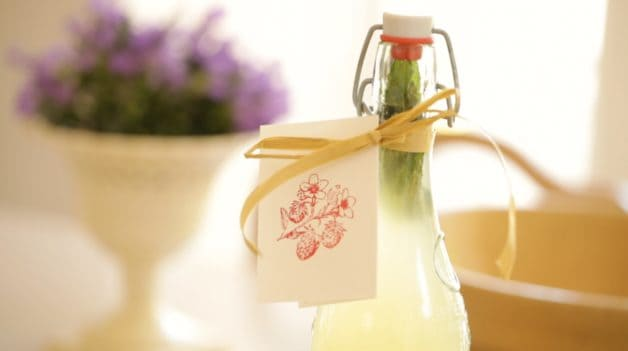 Homemade Lemonade in French Lemonade Bottles. One of 15 gifts for foodies