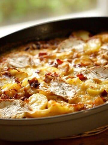 Tartiflette Recipe in a Gratin Pan