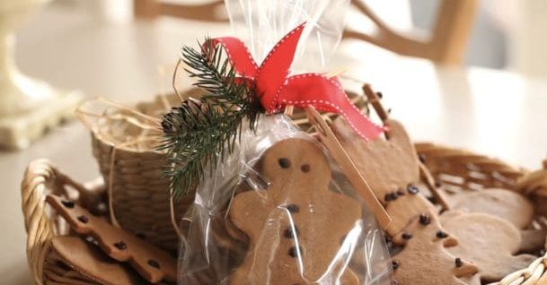 Easy Gingerbread Cookie Recipe packaged up for holiday gifting