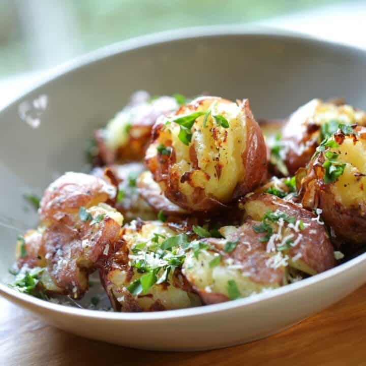 Smashed Potato in a Bowl