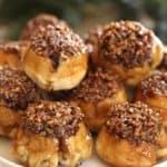 Sticky Buns piled high on a platter ready to be served