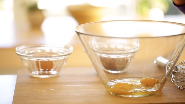 Eggs in a glass bowl