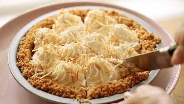 Slicing a Coconut Cream Pie