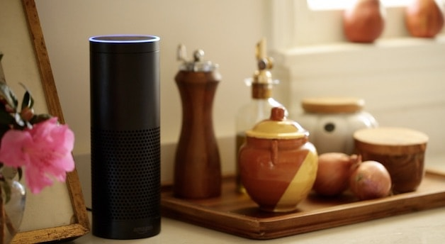 Amazon Echo on Kitchen Counter