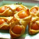 French Apricot Pastries on a plate