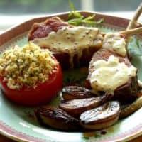 Slow Roasted Lamb Chops with Tarragon Mustard Sauce