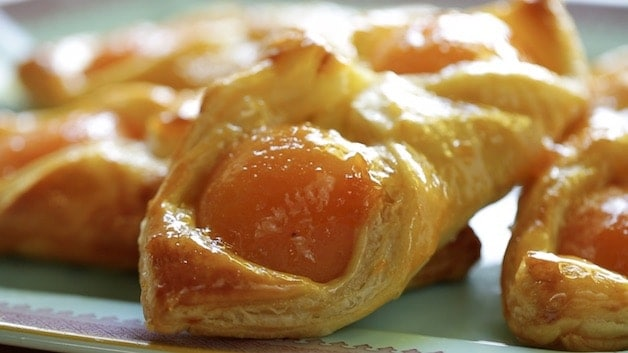 Tight shot of Apricot Pastries