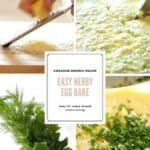 Process shots of Egg Bake Casserole