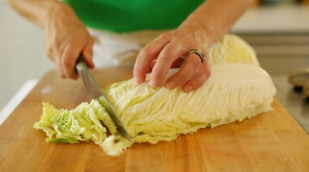 Julienned Cabbage for Shrimp Salad
