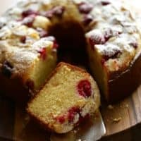 The BEST Raspberry Almond Cake