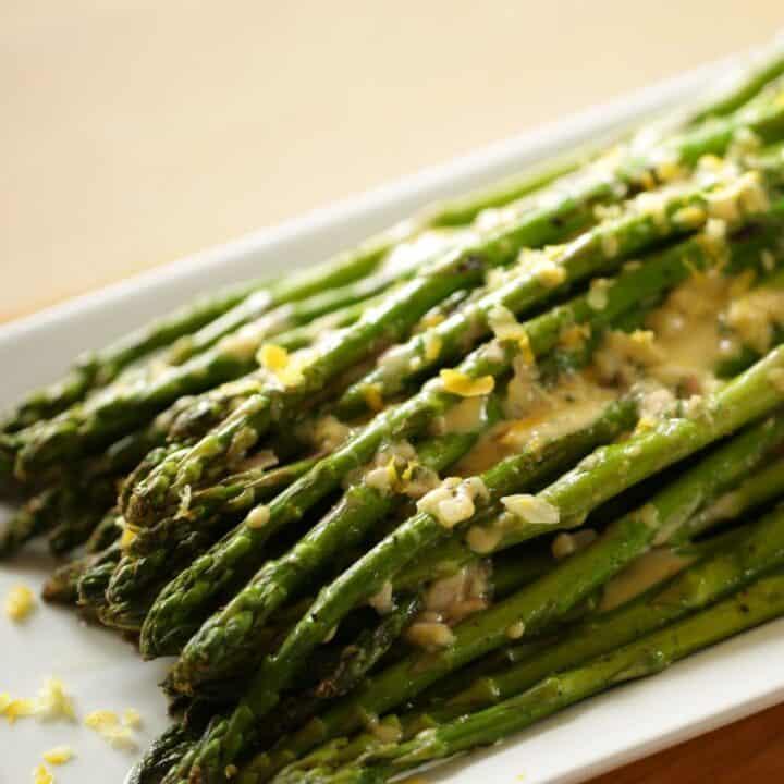Charred Asparagus Salad with Shallot Vinaigrette