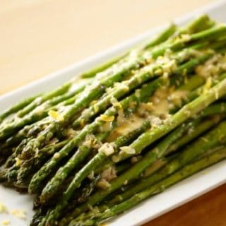 Charred Asparagus Salad with Thyme Shallot Vinaigrette