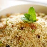 Couscous Salad with Dried Fruit and Mint