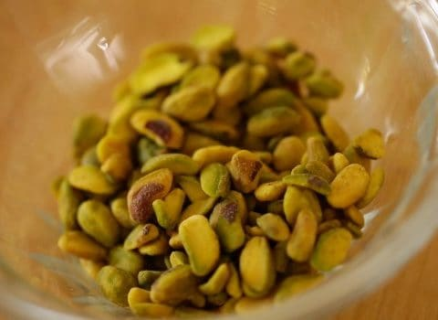 Pistachios for couscous salad