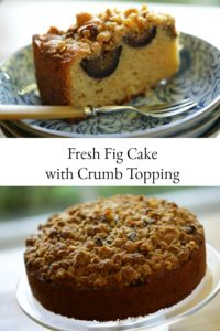 Fresh Fig Cake with crumb topping whole and sliced