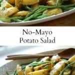 Collage of No-Mayo Potato Salad