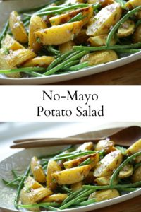 Collage of No-Mayo Potato Salad