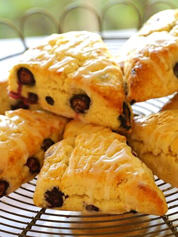 Blueberry Scone Recipe on a Wire Rack