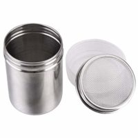 Coolrunner Steel Chocolate Shaker Icing Sugar Powder Cocoa Flour Coffee Sifter Cooking Tools Lid Chocolate Shaker Cocoa