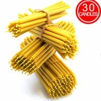 "Pure natural beeswax candles for home décor, party and birthday cake toppers, aromatherapy and meditation, churches, temples, religious purposes, renewable DIY resource, 30 7"" beeswax candles, 1103412"