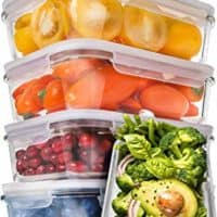 Prep Naturals Glass Meal Prep Containers - Food Prep Containers with Lids Meal Prep - Food Storage Containers Airtight - Lunch Containers Portion Control Containers Bpa-Free (5 Pack,30 Ounce)