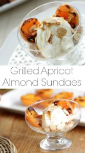 Collage of a grilled apricot sundae