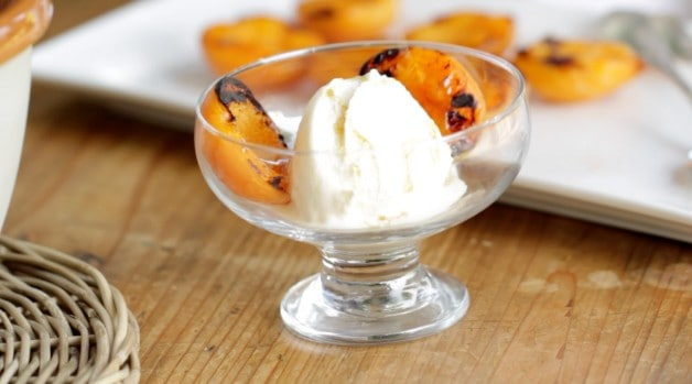 Assembling Grilled Apricot Sundaes Recipe