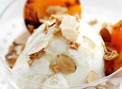 Up close Grilled Apricot Sundaes Recipe