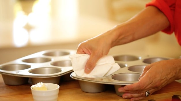 Greasing muffin tin for Make Ahead Oatmeal Cups Recipe