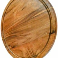 roro Acacia Round Wood Trivet/Charger with Groove (13 Inch x 1, Acacia Brown)