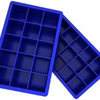 Ozera 2 Pack Silicone Ice Cube Tray, Ice Cube Trays Molds, Easy Release Flexible Ice Cube Molds 15 Ice Cubes for Cocktail, Whiskey, Chocolate