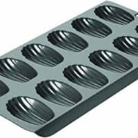 Chicago Metallic Professional 12-Cup Non-Stick Madeleine Pan, 15.75-Inch-by-7.75-Inch, Grey - 26631