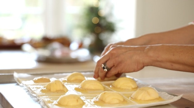 Adding Apples to Puff Pastry Squares