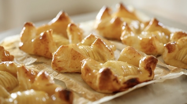 Freshly Baked Apple Pastries with Puff Pastry