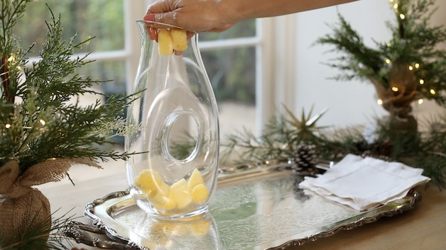Adding Frozen Pineapple to a clear carage