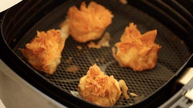 Crispy Filo Dough Baklava Purses in Air Fryer