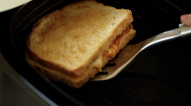 Toasted Grilled Cheese Sandwich in the air fryer