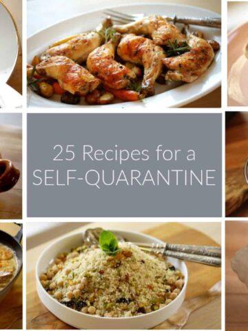 Collage of Quarantine Recipes