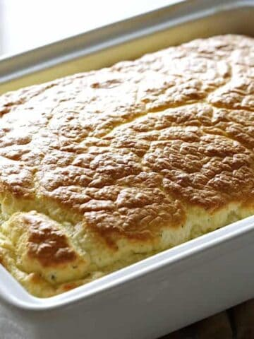 Baked Egg Souffle Casserole in one dish